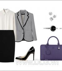 Áo vest mặc kèm phụ kiện thời trang