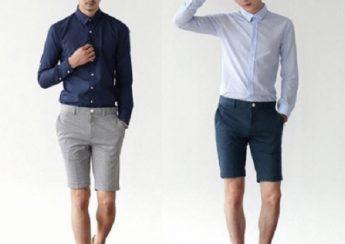 MIX áo đồng phục tại Đà Nẵng với quần short nam siêu cá tính